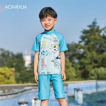 AONIHUA Hot 2-12Years Children Swimwear Boys Baby Kids Infantil Sunny Swimsuit Boy Bathing Suit Clothing Sets 1058