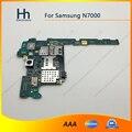 Abierto original de trabajo para samsung galaxy note n7000 i9220 de la placa lógica motherboard envío gratis