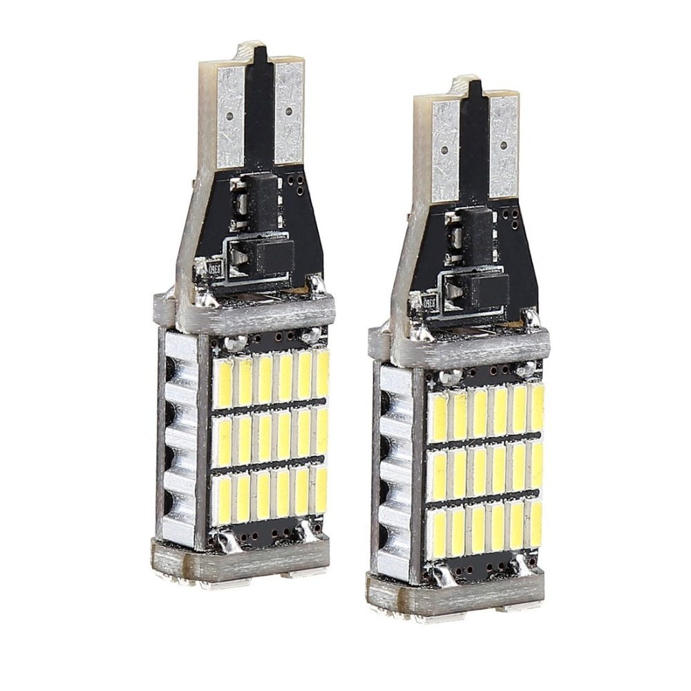 2X High Power T15 Canbus 45 SMD 4014 LED T10 360MA W16W White non - Car Lights - Photo 2