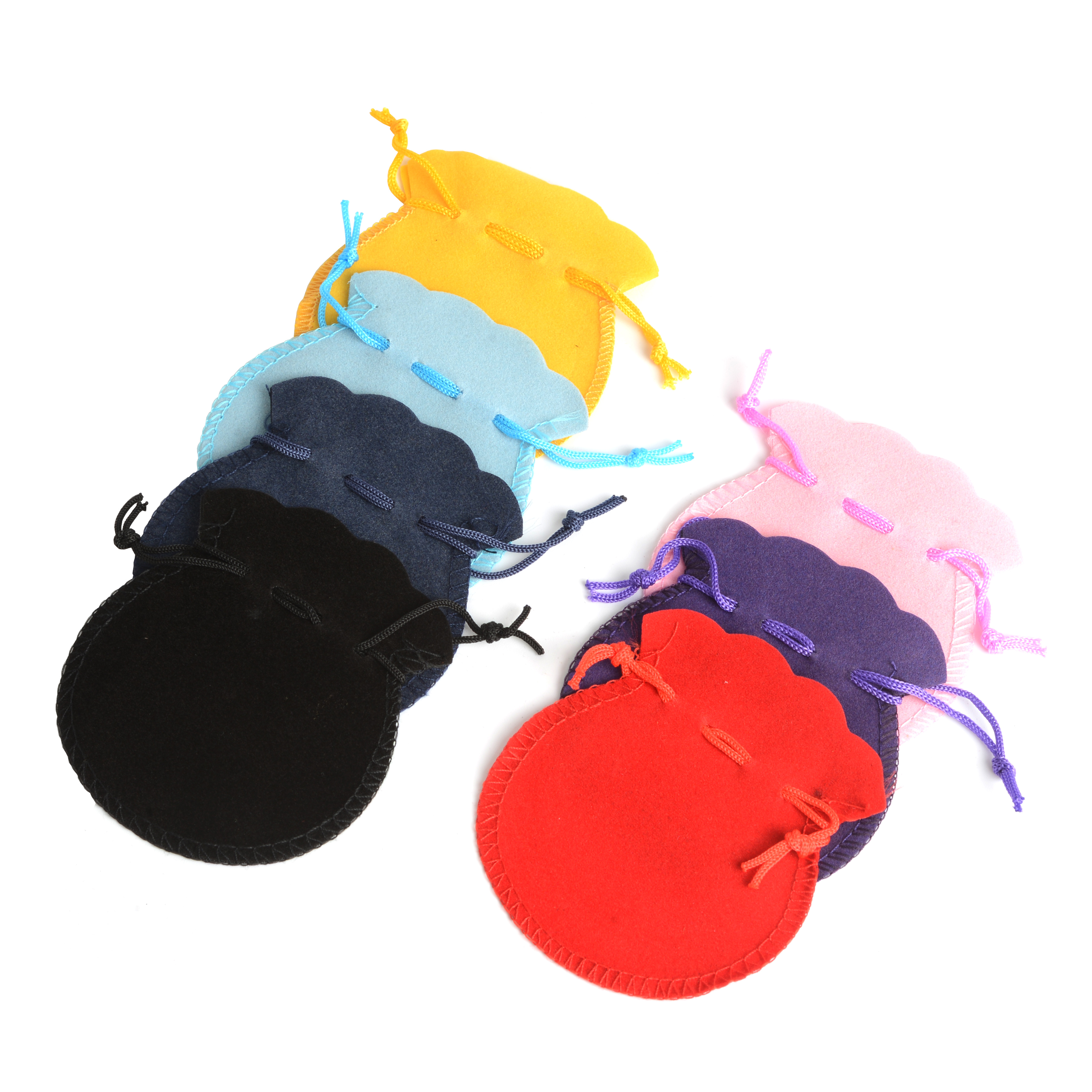 100pcs/lot Fashion 7*8cm 9*12cm Velvet Bag Drawstring Pouch Calabash Jewelry Packing Bags Wedding Christmas Party Gift Bag