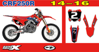 For Honda CRF250R CRF 250 R 2014 2015 2016 Motorcycle Full Stickers Graphics Backgrounds Customizable Number Personality Decals