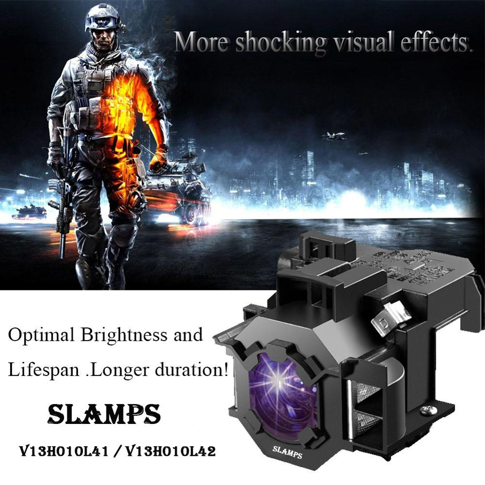Consumer Electronics ... Home Audio & Video Equipments ... 32815067538 ... 5 ... Compatible EMP-S5 EMP-S52 EMP-T5 EMP-X5 EMP-X52 EMP-S6 EMP-X6 EMP-260 EB-S6 EB-S6+ Projector  lamp ELPL41 V13H010L41 for Epson ...