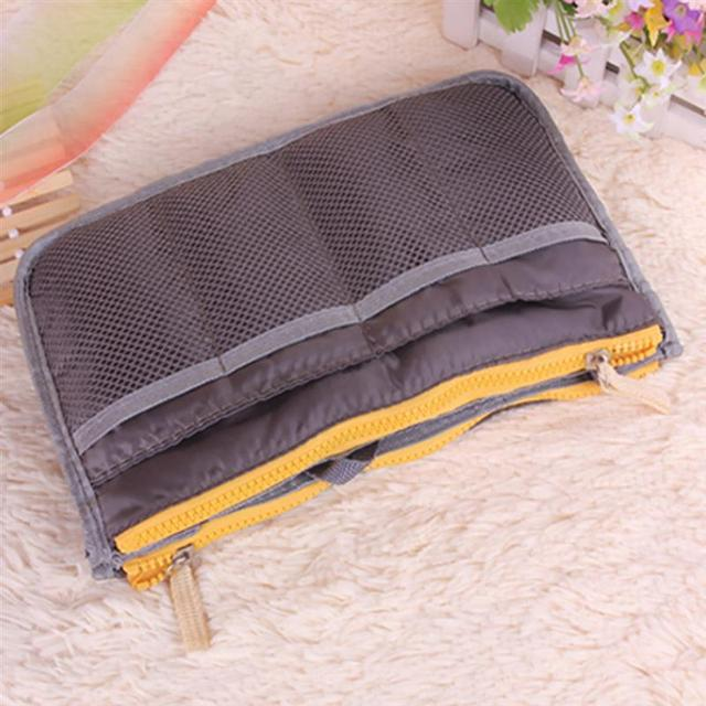 High Quality Thicken Large Capacity Cosmetic Storage Bag Nylon Travel Insert Organizer Handbag Purse Makeup Bag For Women Female 5