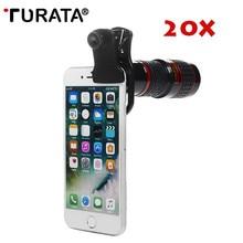 TURATA HD 20X телеобъектив Универсальный телефон зум объектив оптический телескоп камера линзы для iPhone Redmi 5 plus/Note 4x/Note 4