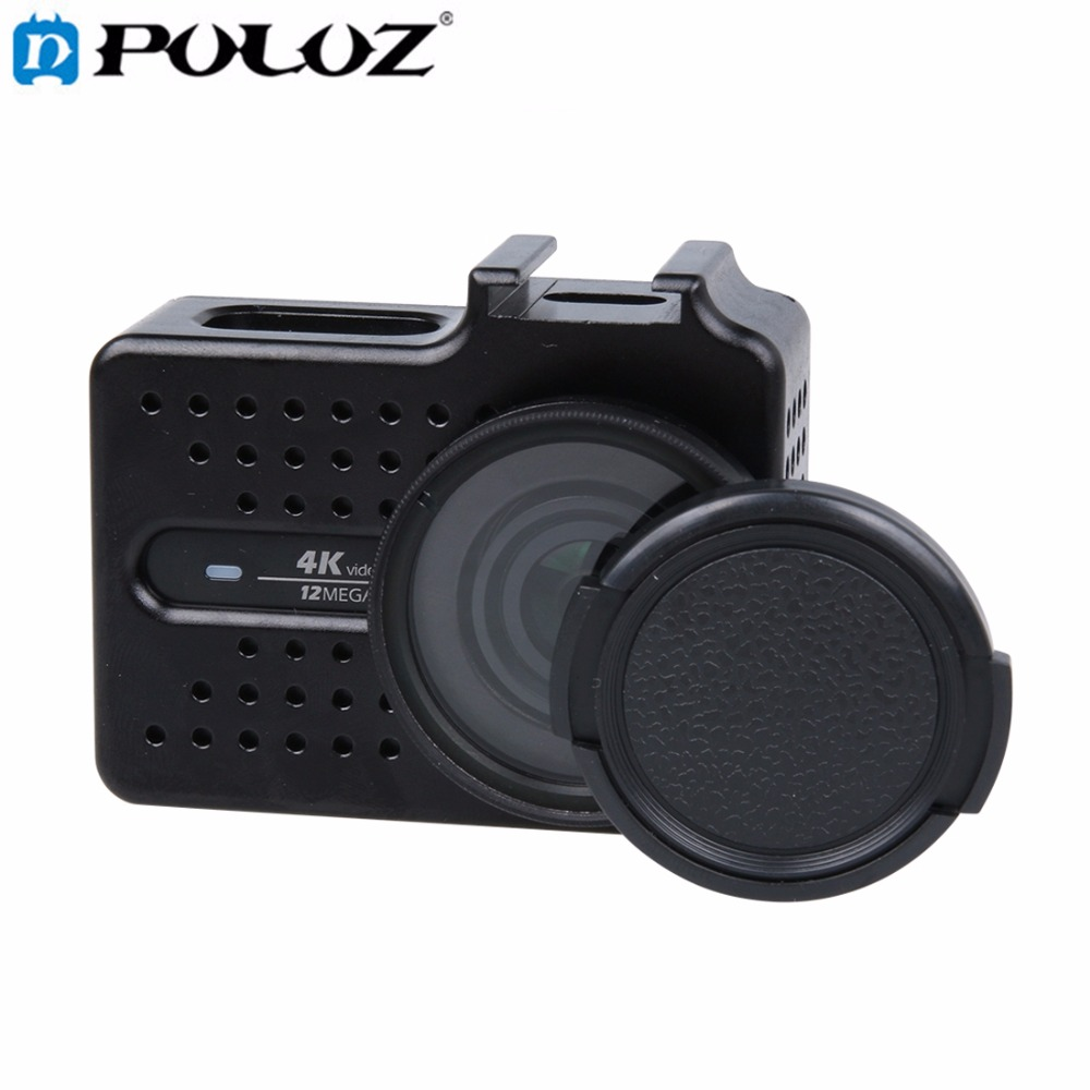 CNC Aluminum Alloy Housing Protective Case with Lens Protective Cap for Xiaomi Xiaoyi Yi II 4K Sport Action Camera Accessories