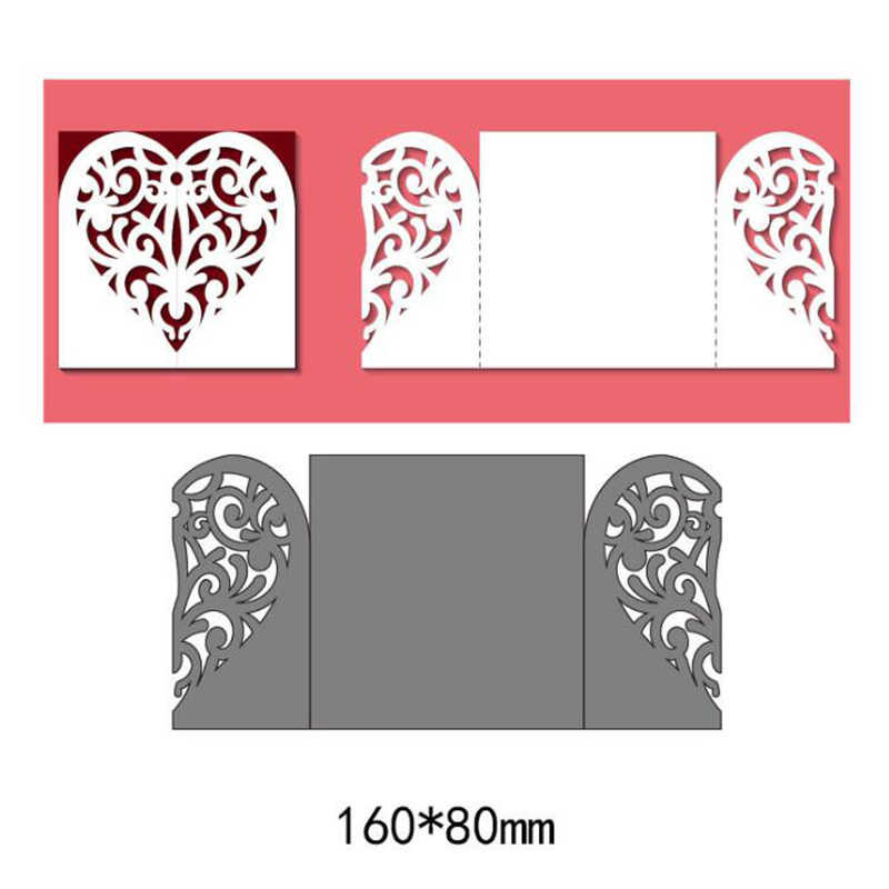 Heart Wedding Invitation Dies Metal Cutting Dies New 2019 Scrapbooking Valentine's Day Decoration Craft Dies Cut for Card Making