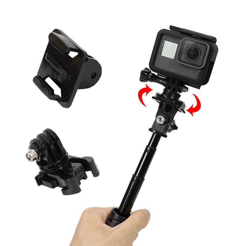 For GoPro Adapter Base 360 Degree Rotate Quick Release Mount for Go Pro Hero 7 6 5 4 3 Sjcam Yi 4K Eken Sport Camera Accessories