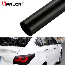 Farol de carro para automóveis, 30*100cm, fosco, preto, luz traseira, filme vinil, adesivo, lâmpada traseira de neblina filme de fumaça fosca