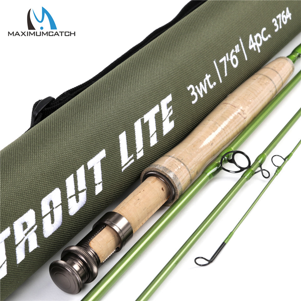 Maximumcatch 3 4 5wt Trout Fly Fishing Rod 7 6 8 6 9ft Moderate Action 40T