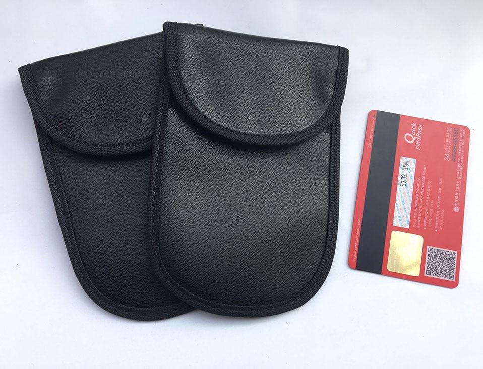Car Keyless Home Storage Bags Organization Phone Car Key Keyless Entry Fob Signal Guard Blocker Black Faraday Bag                (1)
