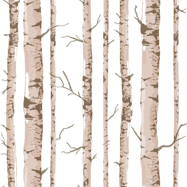 Brand new Art Interior Pastoral Style Birch Tree Pattern Vinyl Wall Paper  FE94