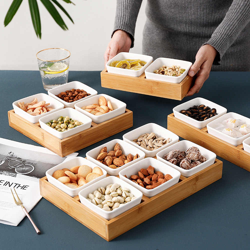 Simple Compartment Candy Box Home Creative Dried Fruit Box Living