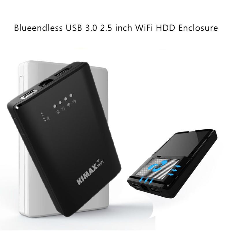 Prix pour 2 pcs/lot Sans Fil wifi disque dur dans hdd boîtier wifi disque dur USB3.0 VERS SATA interface wifi répéteur cas