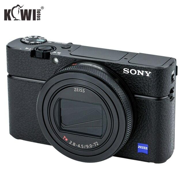 KIWIFOTOS KS RX100VIL Camera Da Trang Trí Cho Sony RX100 VI Với Ướt Vệ Sinh Lau Máy Ảnh Trang Trí