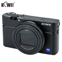 KIWIFOTOS KS RX100VIL كاميرا جلدية لاصقة تزيين لسوني RX100 VI مع ممسحة تنظيف الرطب كاميرات الديكور