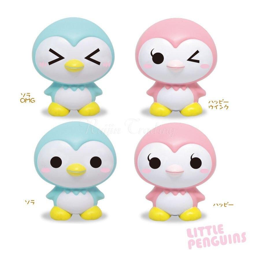 bilder für 10 Teile/los Pinguinbaby Squishy Jumbo Cartoon Puppe Langsam Steigenden Kleinverpackung Telefon Riemen Duftenden Anhänger Brot Kid Spielzeug Geschenk
