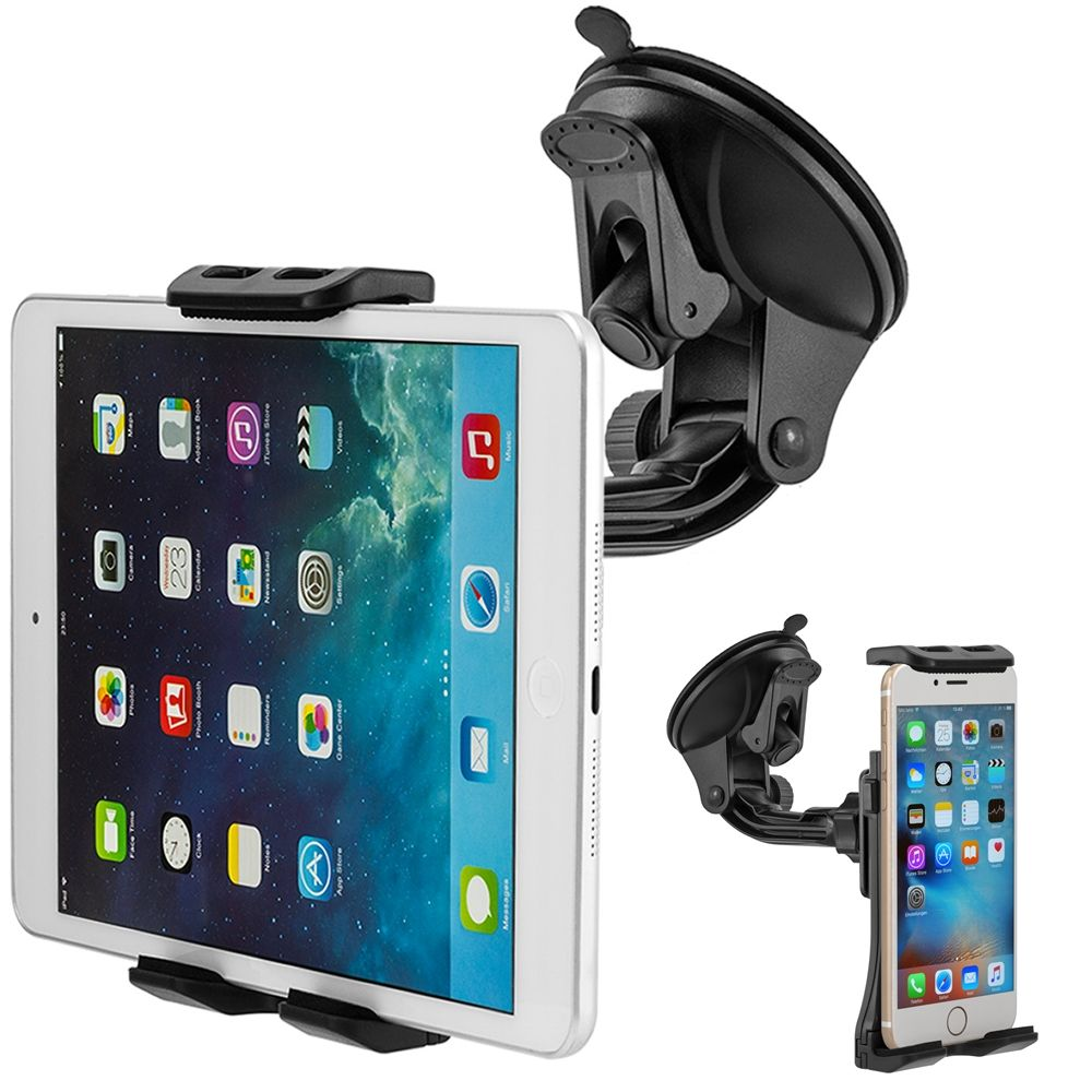 360 Rotary Universal Cellphone Tablet Adjustable Windshield Car ...