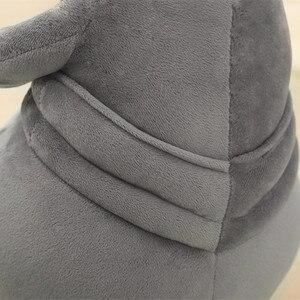 Image 5 - Muñeco de peluche de 20cm con forma de toquilla, muñeco de felpa suave de 20cm, con forma de toquilla gris, para regalo