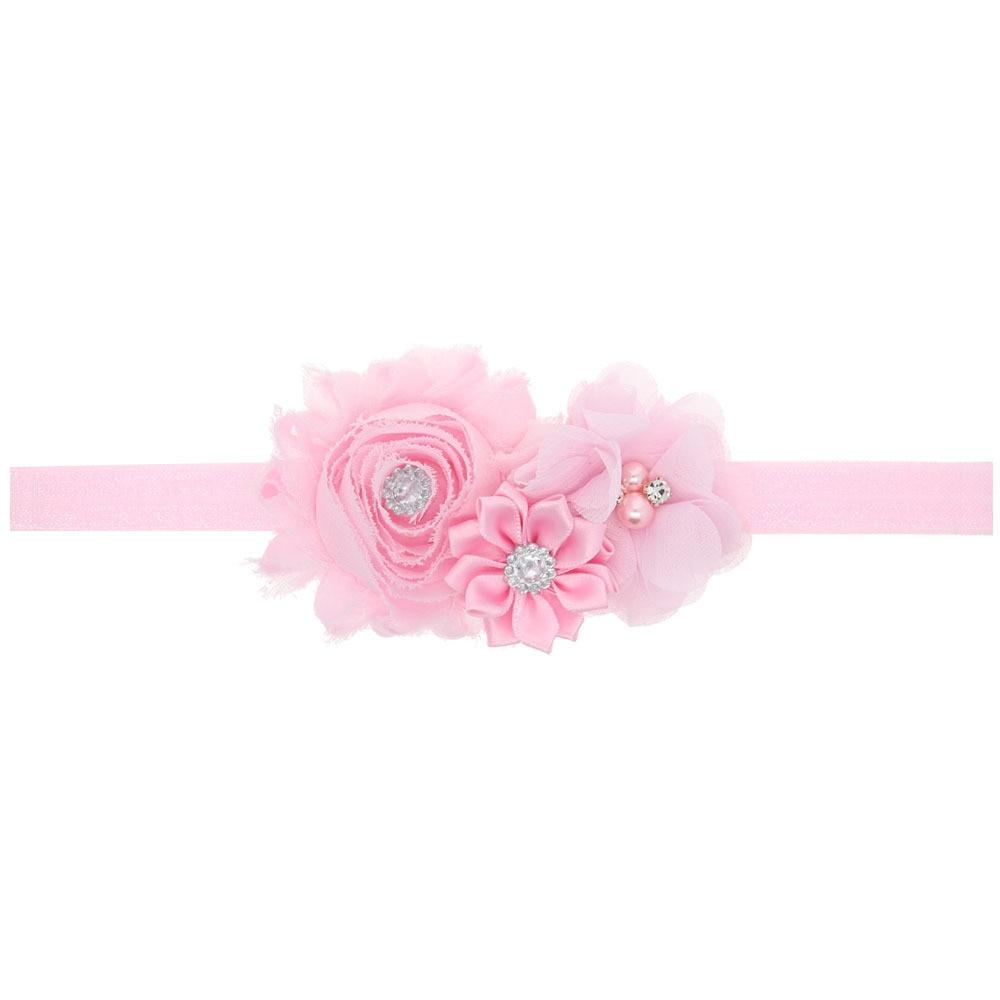 12Clrs Newborn Baby Girls Satin Ribbon Flower Headbands Photography Props Infant Baby Headband children Accessories