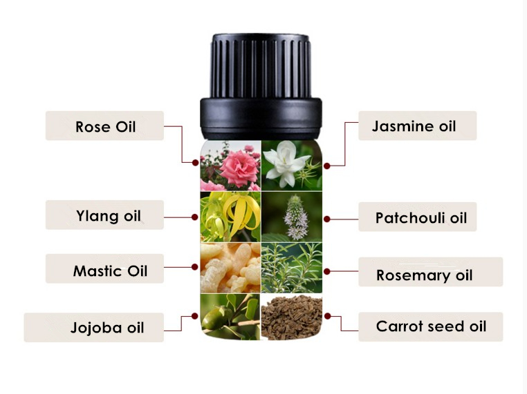 Dimollaure Rose essential oil foot Bath Spa body massage oil Plant essential oil for fragrance lamp humidifie Aromatherapy 11