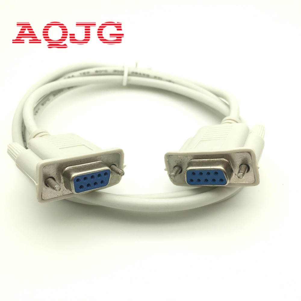 1.5m Serial RS232 9-Pin Female to Female DB9 9-Pin PC Converter Extension Cable
