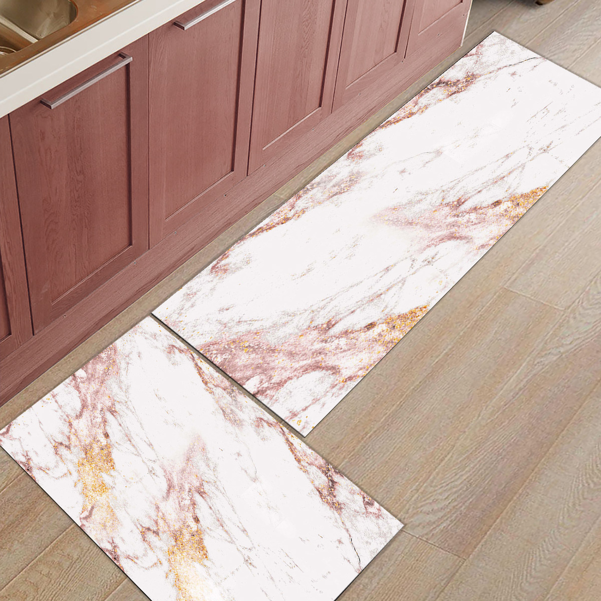 Rose Gold Flash Marble Trend1Doormats For Entrance Way Dirt Debris Mud Trapper Accessory Sets Floor Carpets Area Runners Living