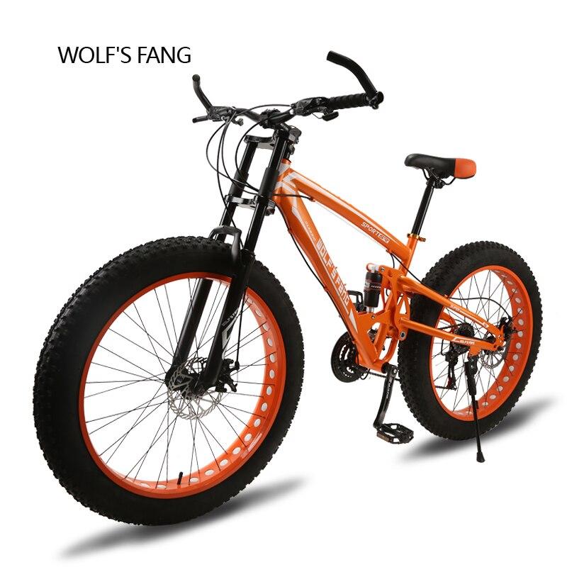 Vélo 26X4.0 vtt 24 vitesse Léger haute en acier au carbone Avant et Arrière Frein À Disque Mécanique Complet shockingprllf Cadre