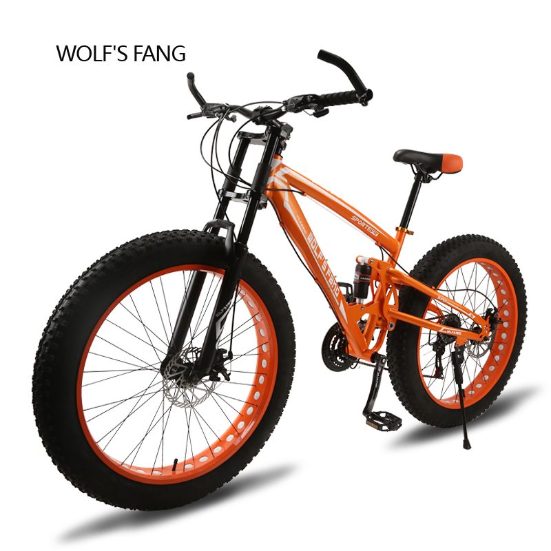 bicycle 26X4 0 mountain bike 24speed Lightweight high carbon steel Front and Rear Mechanical Disc Brake