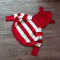 New autumn 2017 spring and autumn children sweater baby girls striped hooded sweater kids fashion lovely bat sleeve sweater