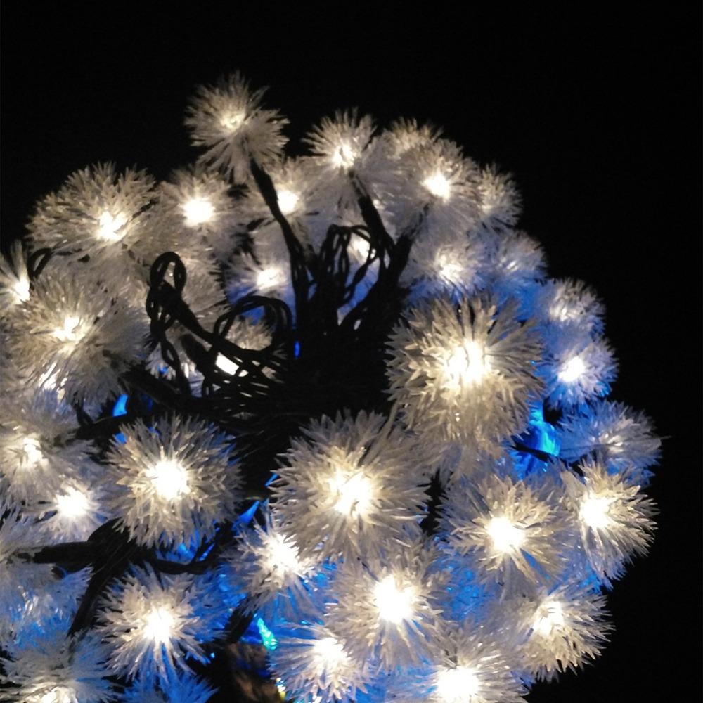 Ball Waterproof Snowball Colorful LED Fairy Light String For Outdoor Christmas Decoration, AA Battery Operated  (1)