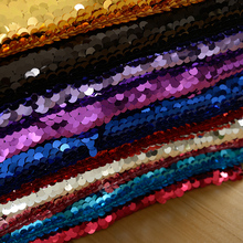 Encrypted 9mm Sequin Fabric Mermaid Gold Fish Scales Hanging Beads Sparkle Sequins Evening Dress Fabric girls fish scales print dress with pants