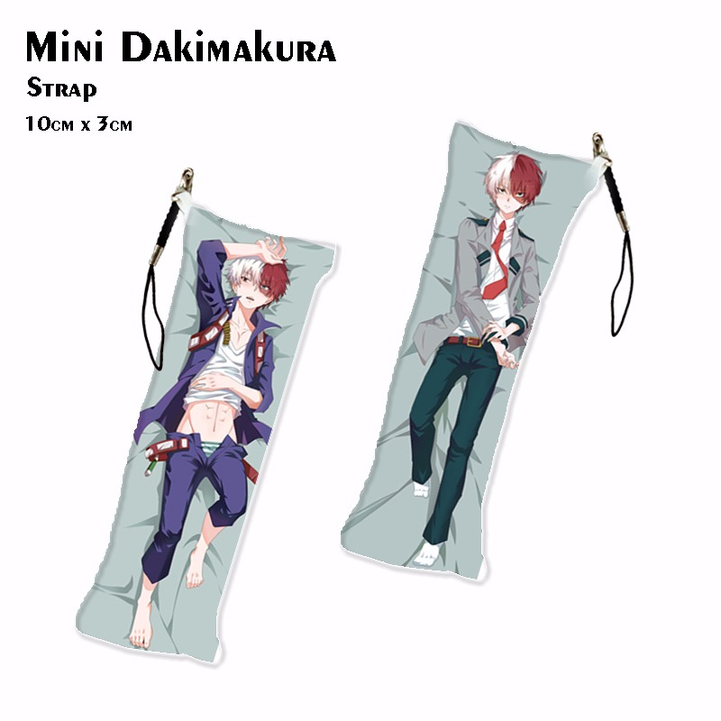 My Hero Academia TODOROKI SHOTO Mini Dakimakura Anime Katsuki Bakugo Keychain DIY Pendant Key Chain Keyrings Drop Ship