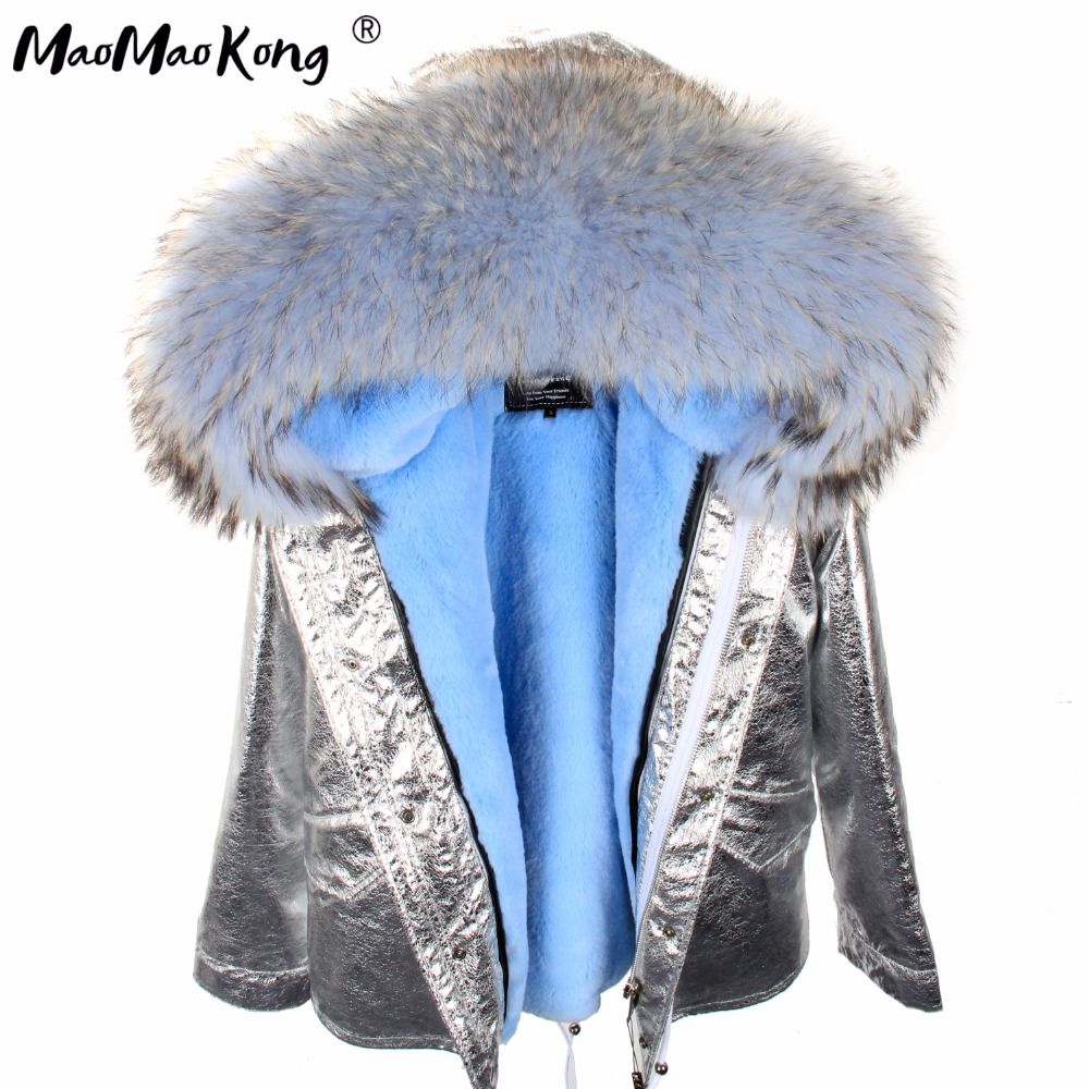 MAO MAO KONG 2017 Parkas woman winter jacket short Women Fur Collar hooded coat Casual Cotton