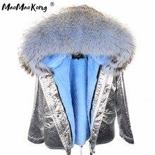 MAO MAO KONG 2017 Parkas woman winter jacket short Women Fur
