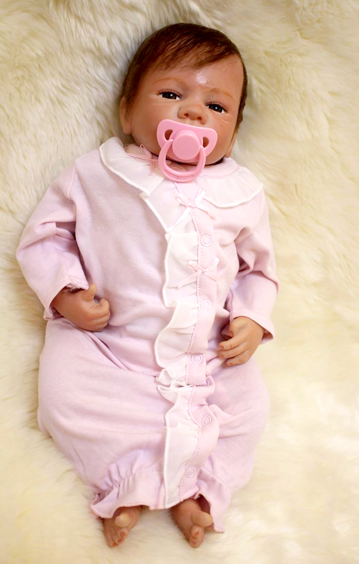 50cm NPK handmade Silicone Reborn 20inch Doll Kids pink suit simulation  Alive lifelike adorable fashion Doll reborn toys Toys50cm NPK handmade Silicone Reborn 20inch Doll Kids pink suit simulation  Alive lifelike adorable fashion Doll reborn toys Toys