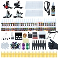 Solong Professional Complete Tattoo Kit Shader Liner Wrap Coils Gun Equipment Machine Needles Power Supply Color Ink Set