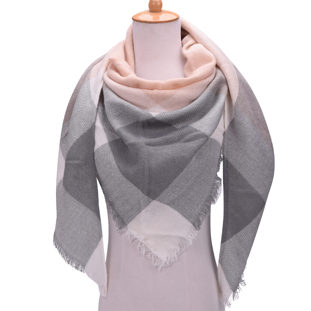 VEITHDIA 2018 Winter Triangle   Wraps     Scarf   For Women Brand Designer Shawl Cashmere Plaid   Scarves   Blanket Wholesale Dropshipping