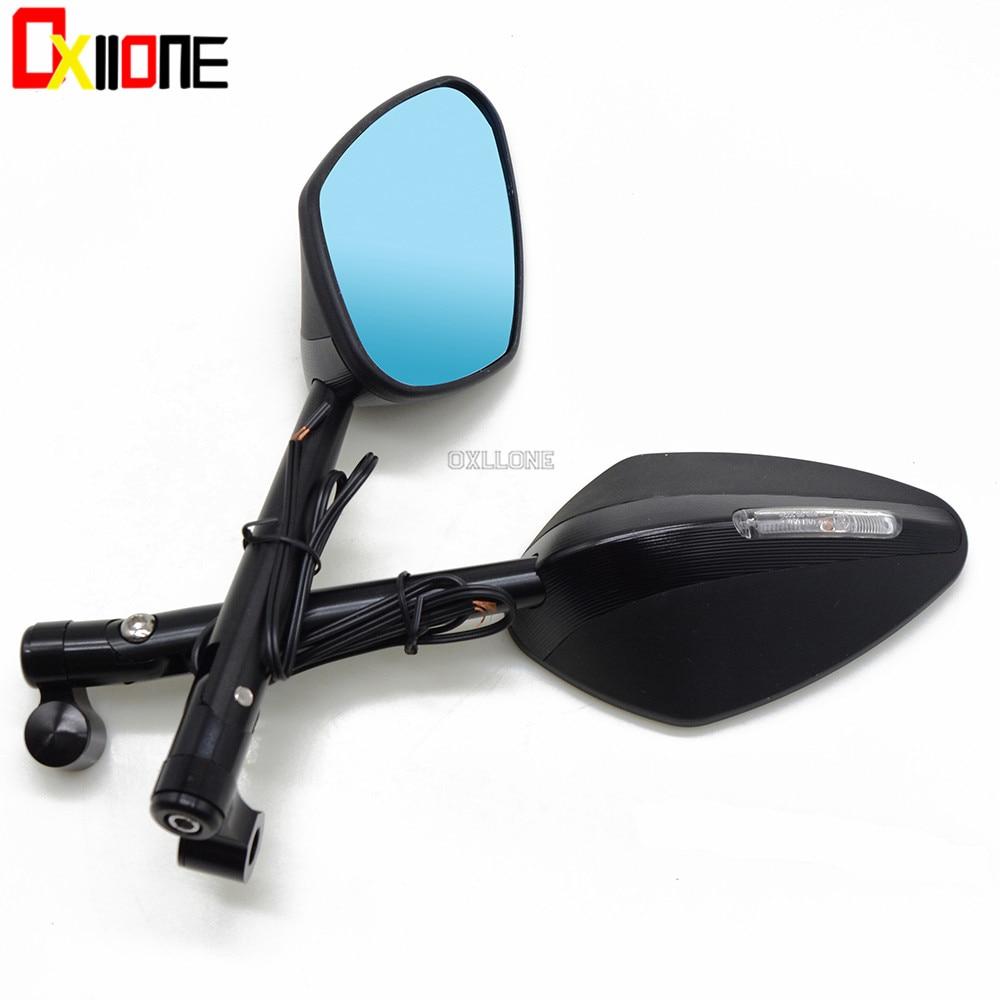 Motorcycle Aluminum Universal with LED light mirror For KTM 390 690 SMC 950 200 125 1290 990 Super Duke R SMT SMR