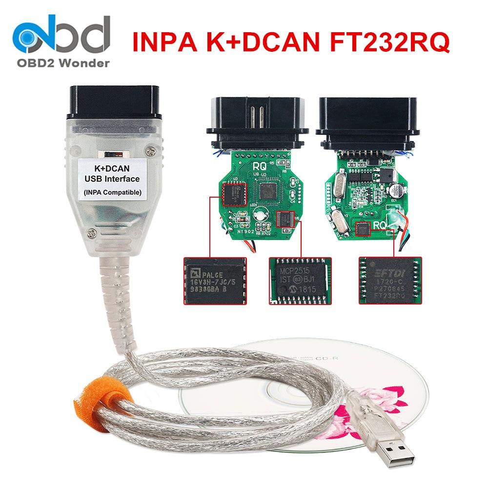 Recentemente Lançado Para BMW Inpa K DCAN Cabo USB Com Interruptor FT232RQ FTDI Chip INPA K + CAN ferramenta de Diagnóstico Do Carro scanner obd2 Ediabas