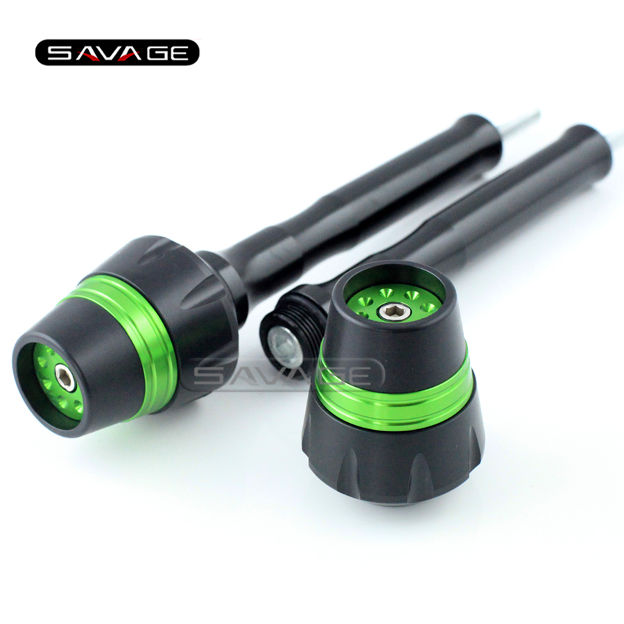 For KAWASAKI GTR 1400 Concours 2010-2015 Green Motorcycle Accessories Frame Sliders Crash Protector Bobbins Falling Protection