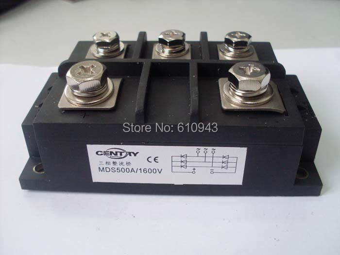 MDS500A 3-Phase Diode Bridge Rectifier 500A 1600V bridge rectifier Free Shipping dropshipping free shipping new singe phase diode bridge rectifier sql 200a 1600v modules