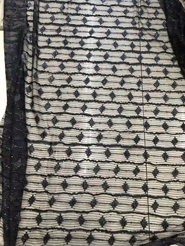 5yards RNV012 new arrive good quality black   tulle mesh lace for sawing/ wedding