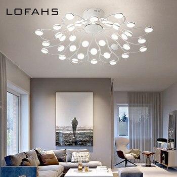 LOFAHS современная светодиодная Люстра для гостиной спальни столовой несколько огней белая Потолочная люстра для зала освещения