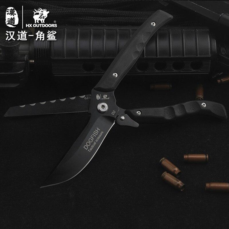 HX OUTDOORS túlélő kés multifunkcionális olló kettős célú D2 - Kézi szerszámok - Fénykép 4