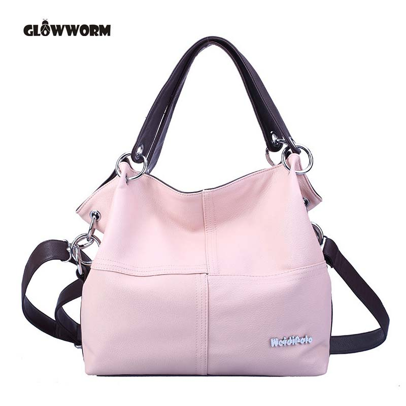 Women Shoulder Bags 2018 Fashion Women Handbags PU Leather Large Capacity Tote Bag Casual Pu Leather Messenger bag metallic hasp pu leather tote bag