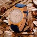 Homens Top Marca De Luxo Relógios de Quartzo Relógios Casuais Das Mulheres Da Forma De Madeira de Madeira Da Lona Relógios de Pulso relogio masculino