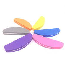 купить 6Pcs Half Moon Nail File 100/180 Sponge Mini Nail Buffer Block Files For UV Gel Polish Colorful Manicure Sanding Nail Art Tools в интернет-магазине