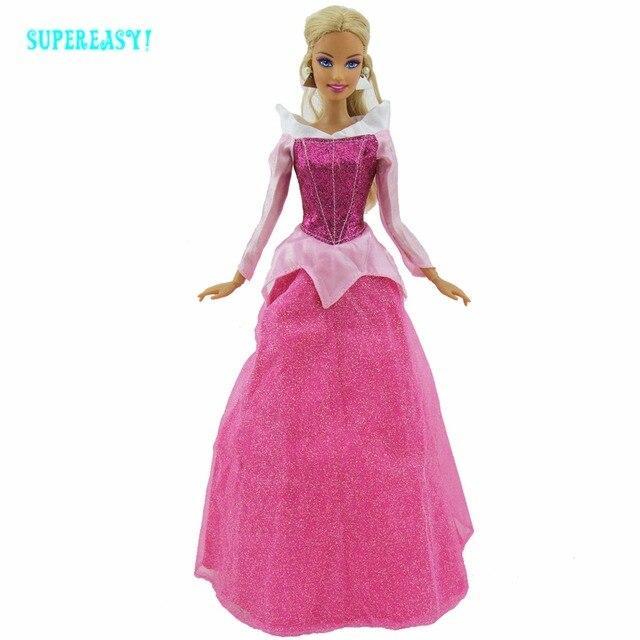 b07a78f096a7 Fiaba Vestito Copia Principessa Aurora Bella Addormentata Festa Nuziale Abito  Per Barbie Doll Clothes Pretend Gioca