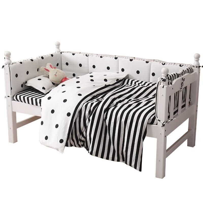 28*120 cm combinaison Simple double face épaissir bébé pare-chocs berceau autour coussin lit protecteur oreillers nouveau-nés chambre décor literie
