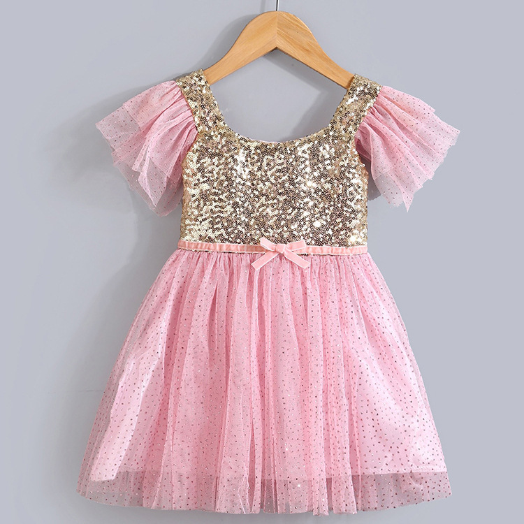 Sparkly Pink dress for kids forecasting to wear for on every day in 2019